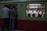 Жители северокорейского Пхеньяна в метро. Несмотря на продолжающиеся международные переговоры, КНДР остается самым изолированным государством на планете. С момента образования страны в 1948 году ее лидерами стали три поколения династии Ким: Ким Ир Сен, Ким Чен Ир и Ким Чен Ын. Военные действия прекратились в 1953 году, однако Северная и Южная Кореи технически по-прежнему находятся в состоянии войны, а демилитаризованная зона вдоль границы остается самой укрепленной в мире.