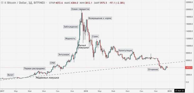 Рыночный цикл на примере биткоина