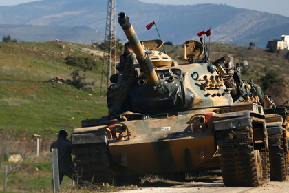 Турция отреагировала насирийскую армию у собственных  границ