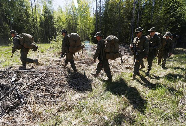 Американские военные в составе НАТО на учениях в Эстонии