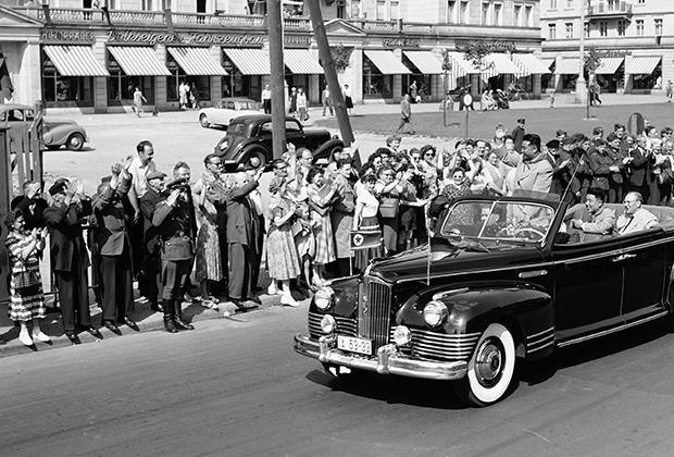 Ким Ир Сен в Берлине во время визита в ГДР