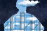Реалистичное изображение промышленного объекта совмещено с образами, заимствованными из живописных произведений бельгийского сюрреалиста Рене Магритта. На картине крупнейший российский нефтеперерабатывающий завод «Газпром нефти» в городе Омске.