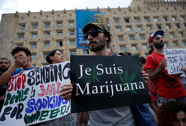 Выступление с требованием легализации марихуаны
