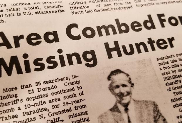 Объявление о пропаже Дугласа Гренстеда
