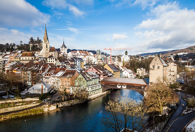 Общий вид на центр Цюриха