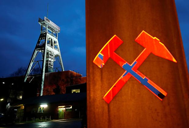 Вход в угольную шахту в Ботропе