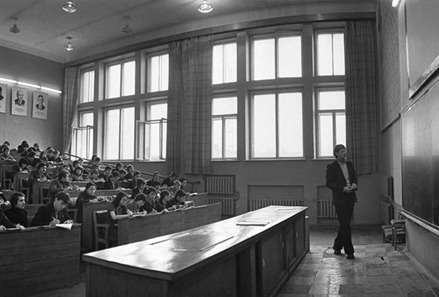 Лекция в аудитории «Станкина»