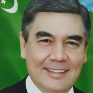 Президент Туркмении Гурбангулы Бердымухамедов с сединой