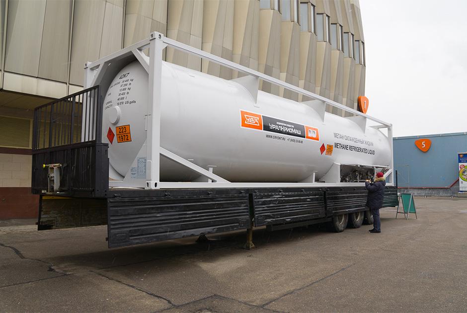 Контейнер-цистерна для транспортировки и хранения сжиженного природного газа