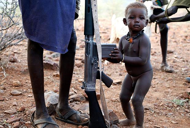 К культуре оружия местные приобщаются с раннего возраста