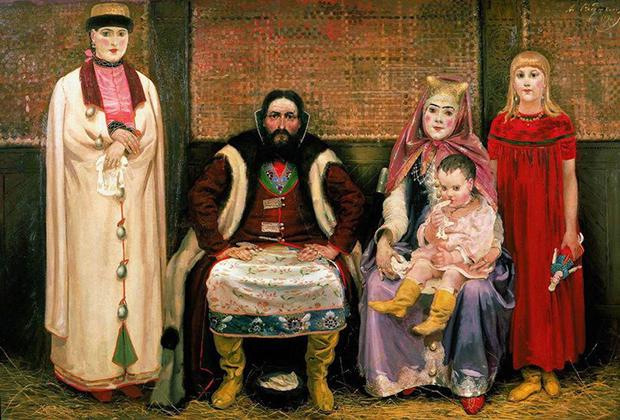 «Семья купца в XVII веке»