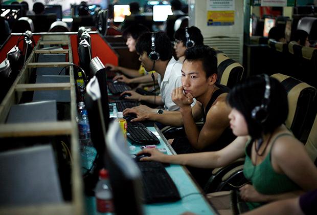 Китайцы в интернет-кафе