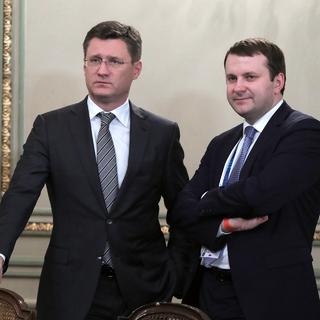 Александр Новак (слева) и Максим Орешкин