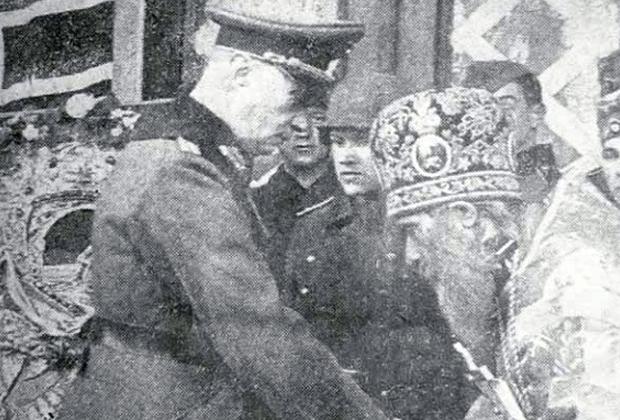 Начальник «Православной миссии» благодарит фашистского генерала