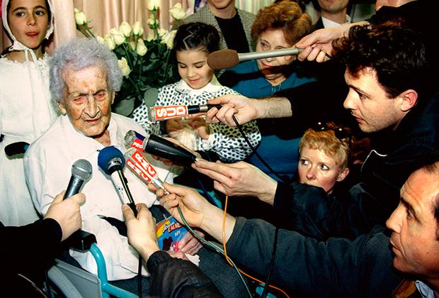 Жанна Кальман накануне 122 дня рождения (или Ивонна в 99 лет)