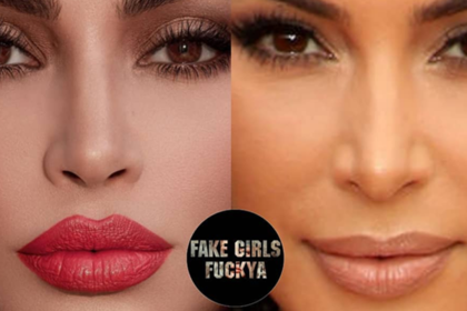 Ким Кардашьян отфотошопила лицо и стала посмешищем