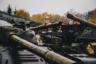 Старая танковая техника в центральном музее бронетанкового вооружения и техники в подмосковной Кубинке.