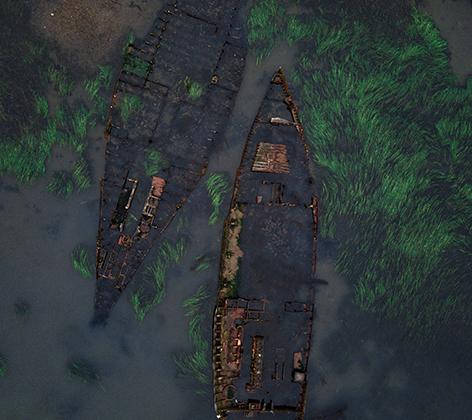 Кладбище военных кораблей в бухте Труда на острове Русский в Приморском крае.