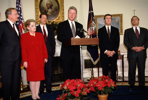Мадлен Олбрайт на ужине White House Correspondents' Association, 2017 год