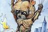 Очень скоро «Красная бурда» становится полноценным журналом. Ее создатели пишут материалы для журнала и публикуют сторонних авторов. Здесь раскрывается талант иллюстратора Максима Смагина — историка по образованию, ставшего признанным мастером исторической карикатуры.  <br> <br>  На фото — обложка апрельского номера 1996 года, посвященная летней Олимпиаде в Атланте. Это были первые Игры после распада СССР, на которых выступила сборная России. Вылетевший в 1980 году из Москвы полный сил «ласковый Миша» спустя 16 лет приземлился в Атланте изрядно потрепанным и оголодавшим.