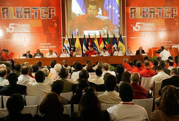 Уго Чавес на саммите АЛБА в 2007 году