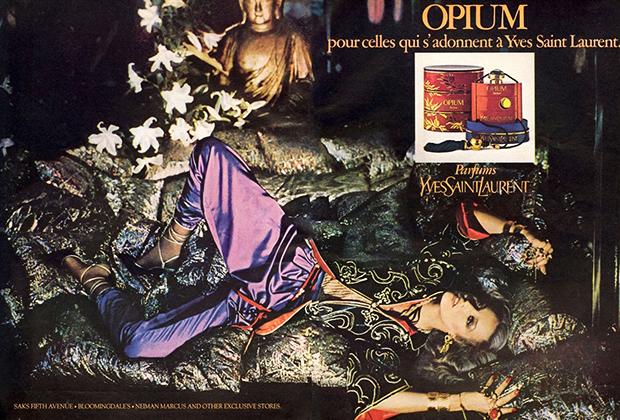 Рекламная кампания аромата Opium