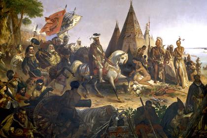 Уильям Пауэлл. «Открытие реки Миссисипи конкистадором Эрнандо де Сото в 1541 году»