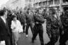 В новой России на 9 мая перестали проводить парады. Праздник Победы отмечали митингами оппозиционно настроенные силы, которые шли в том числе по Тверской улице. По словам Мухина, власть проиграла выборы в Думу в 1995 году, и у патриотов-консерваторов появился душевный подъем и надежда на реванш в будущем.