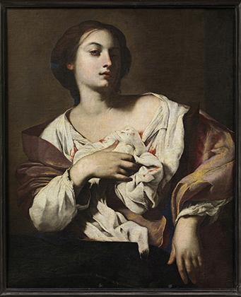 «Ангел с игральными костями и туникой Христа», между 1615 и 1620-25