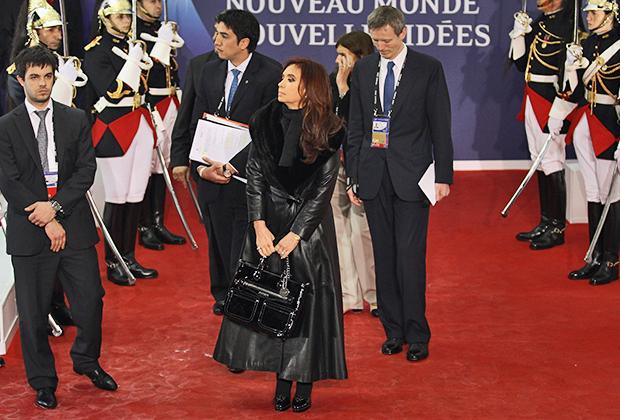Кристина Фернандес де Киршнер на мероприятии в Буэнос-Айресе, 2014 год