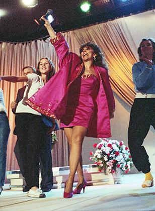 Вероника Кастро в студии телеканала «Останкино», 1992 год