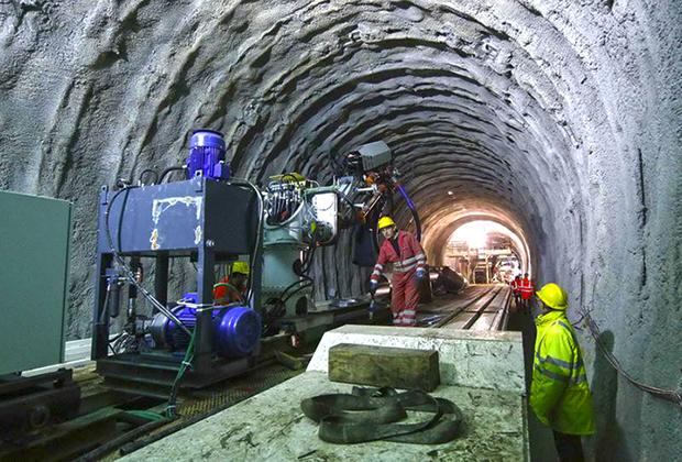Строительство тоннеля Dullin на территории Франции