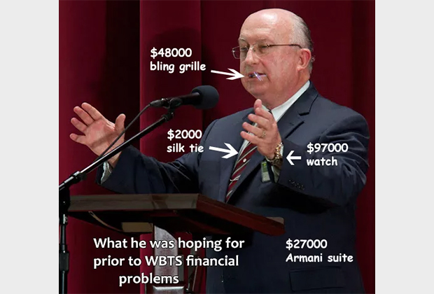 Скандал с часами заставил критиков организации внимательнее смотреть за вещами Херда, особенно в свете его разговоров о финансовых трудностях свидетелей. Вот примерная стоимость того, что надето на Сэме. Часы за 97 000 долларов, галстук за 2 000, костюм Armani за 27 000 и фикса за 48 000 долларов.