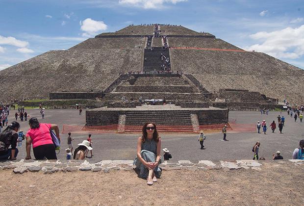 В Теотиуакане, древнем городе ацтеков в Мексике