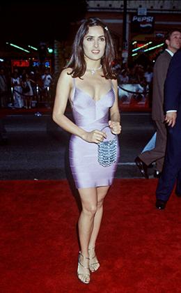 Сальма Хайек на премьере «Смертельного оружия-4», 1998 год