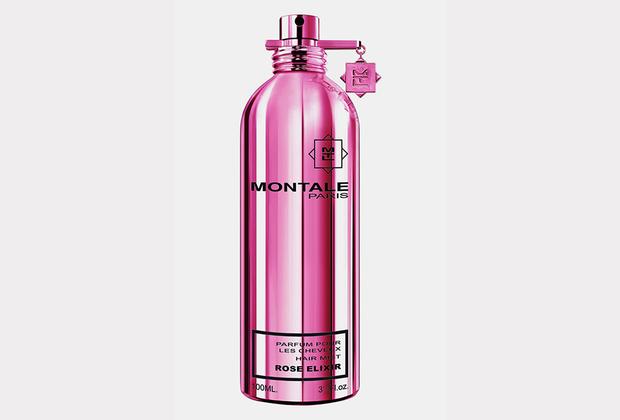 Изысканнейшая из возможных версий любого аромата — тонкая вуаль-дымка — в данном случае навевает воспоминания о розарии или покрывале, усыпанном розовыми лепестками.