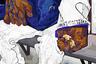Главный герой носит в огромной сумке все свои пожитки вместе с хлебным батоном. В городе, куда он приехал, у него еще нет ни друзей, ни знакомых — только голуби, с которыми он сегодня разделил кусок хлеба.