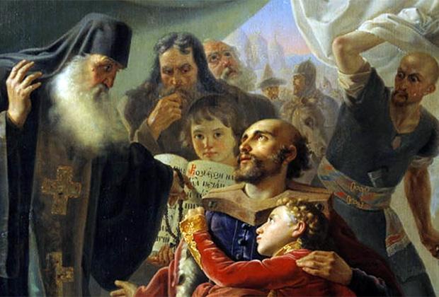 Картина Пимена Орлова «Смерть святого князя Михаила Тверского в Орде»
