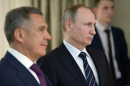 Рустам Минниханов и Владимир Путин