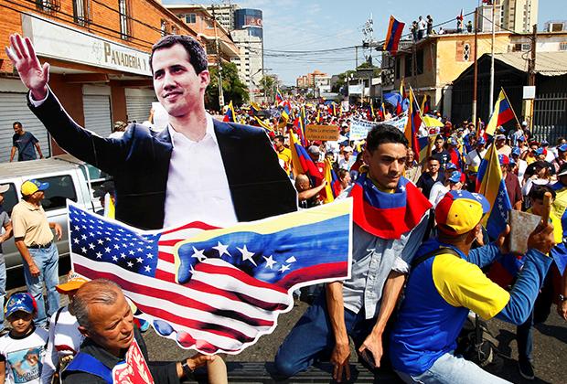 Сторонники оппозиции в Венесуэле