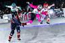 Финальный забег в женских соревнованиях. За победу боролись американки Аманда Трунцо и Тамара Мейвиссен, канадка Мариам Трепанье и швейцарка Анаис Моран.