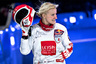 Анаис Моран из Швейцарии радуется четвертому месту в женских соревнованиях.