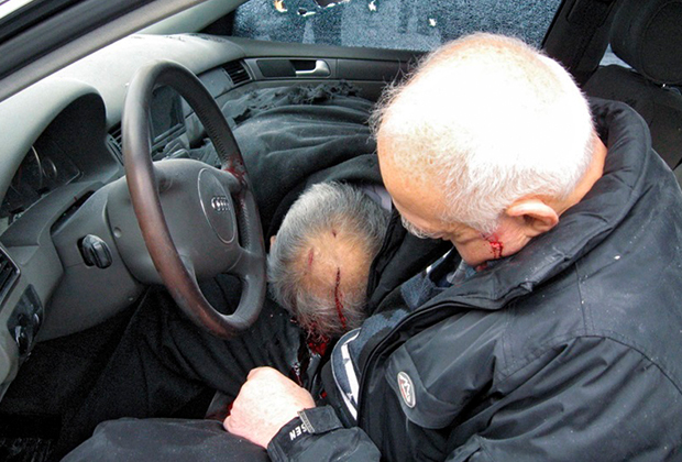 Бывший зампред правительства Северной Осетии Казбек Пагиев и его водитель, убитые киллерами Джако