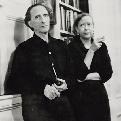 Марсель Дюшан с женой Алексиной