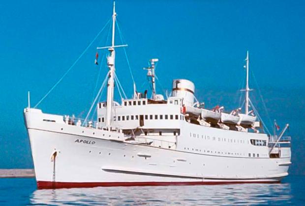 Флагманский корабль «Морской организации» Apollo, который был для Хаббарда штаб-квартирой в течение почти семи лет.