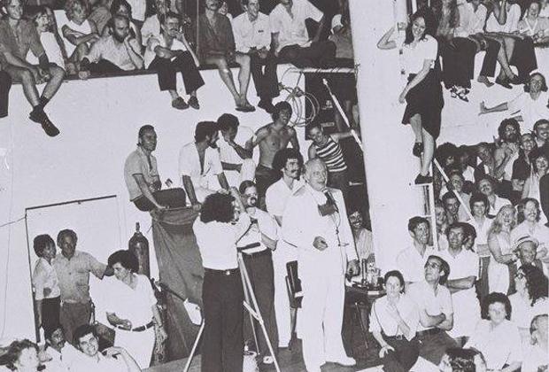 Вечеринка на борту Apollo, в которой участвовали видные сайентологи и друзья Хаббарда.