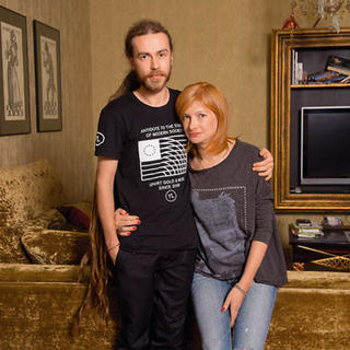 Кирилл Толмацкий с матерью Ириной