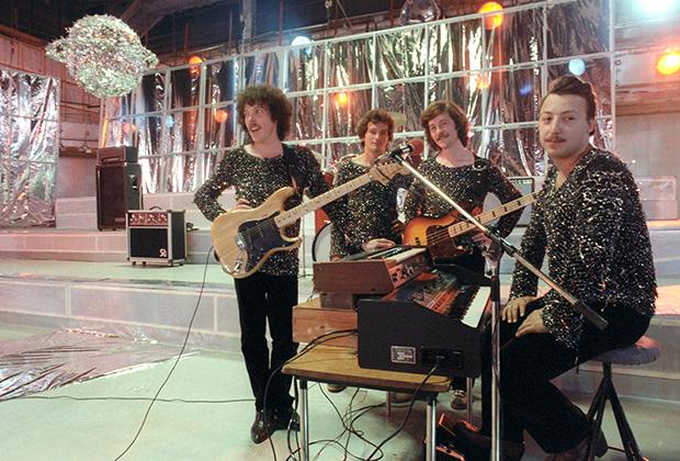 «Машина времени» во время съемки киноконцертной программы, 1981 год