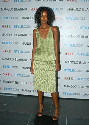 Лия Кебеде на вечеринке Vogue, Нью-Йорк, 2003 год