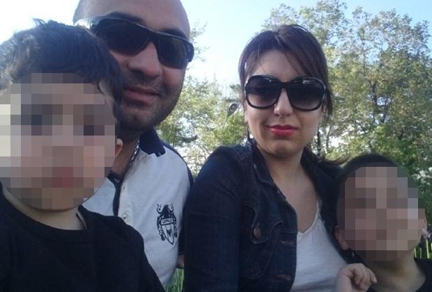 Ашот Симонян с семьей